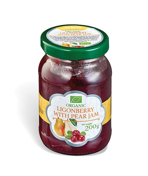 Organic Lingonberry with Pear Jam