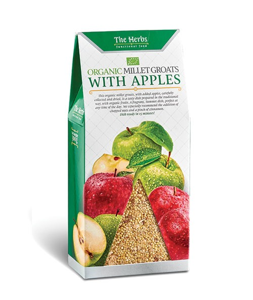 Organic Millet Groats with Apples