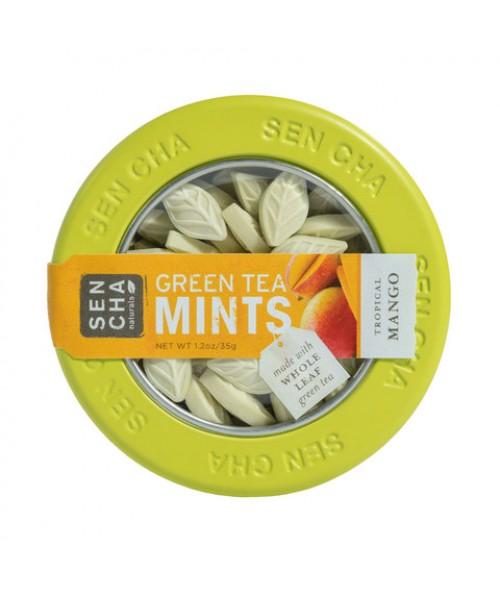 Tropical Mango Green Tea Mints , Single Canister