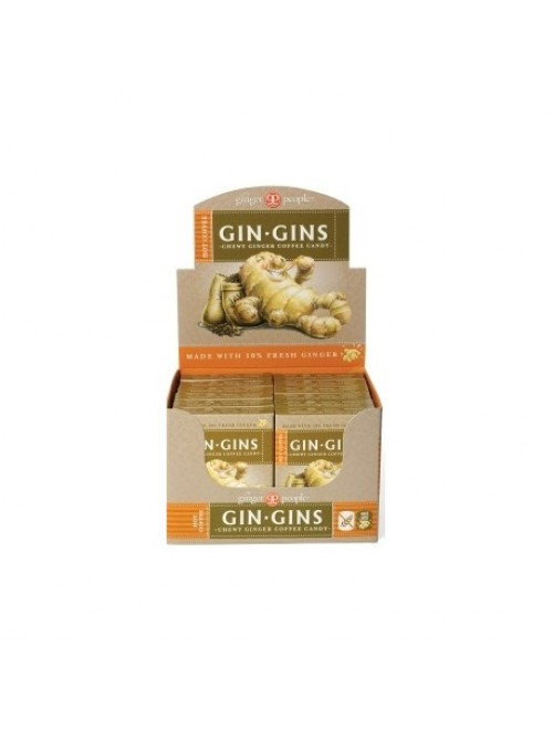 Gin Gins® Hot Coffee Chewy Ginger Candy - Travel Box