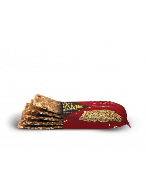 Raw Sesame Crackers Cranberry