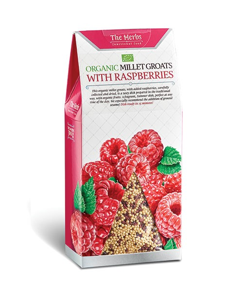 Organic Millet Groats with Raspberries