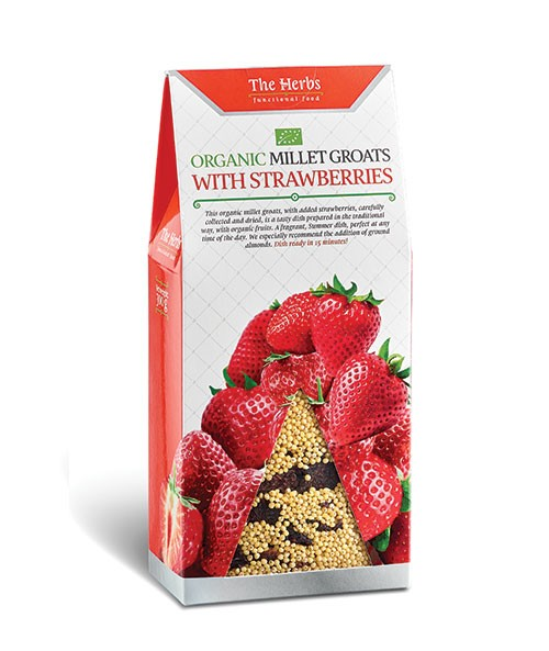 Organic Millet Groats with Strawberries