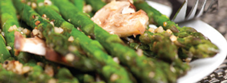 Asparagus With Chanterelles And Sushi Ginger Salad