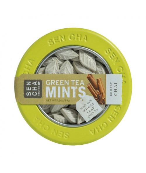 Bombay Chai Green Tea Mints , Single Canister