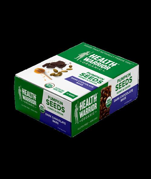 Organic Dark Chocolate Pumpkin Seed Bar Box