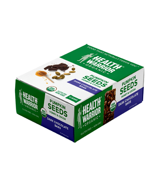 Organic Dark Chocolate Pumpkin Seed Bar Box