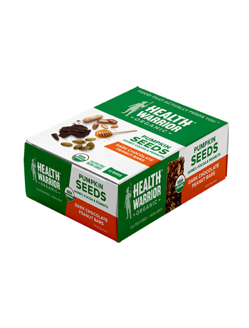Organic Dark Chocolate Peanut Pumpkin Seed Bar Box