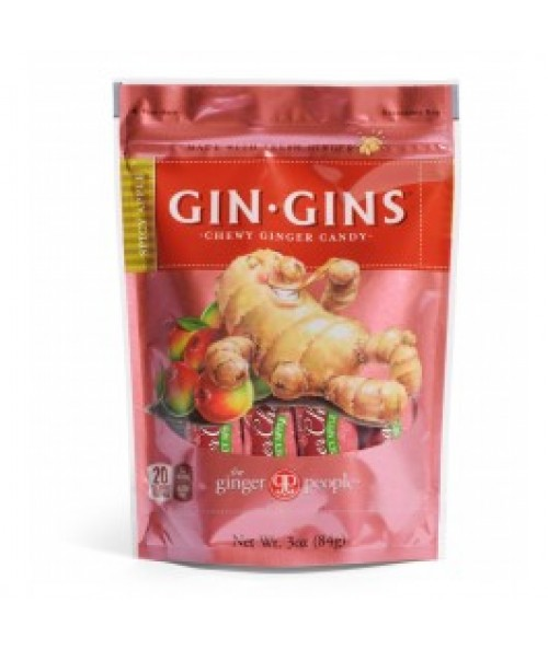 Gin Gins® Spicy Apple Chewy Ginger Candy