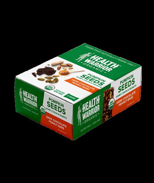 Organic Dark Chocolate Peanut Pumpkin Seed Bar Box