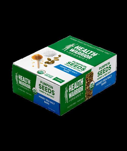 Organic Honey Sea Salt Pumpkin Seed Bar Box