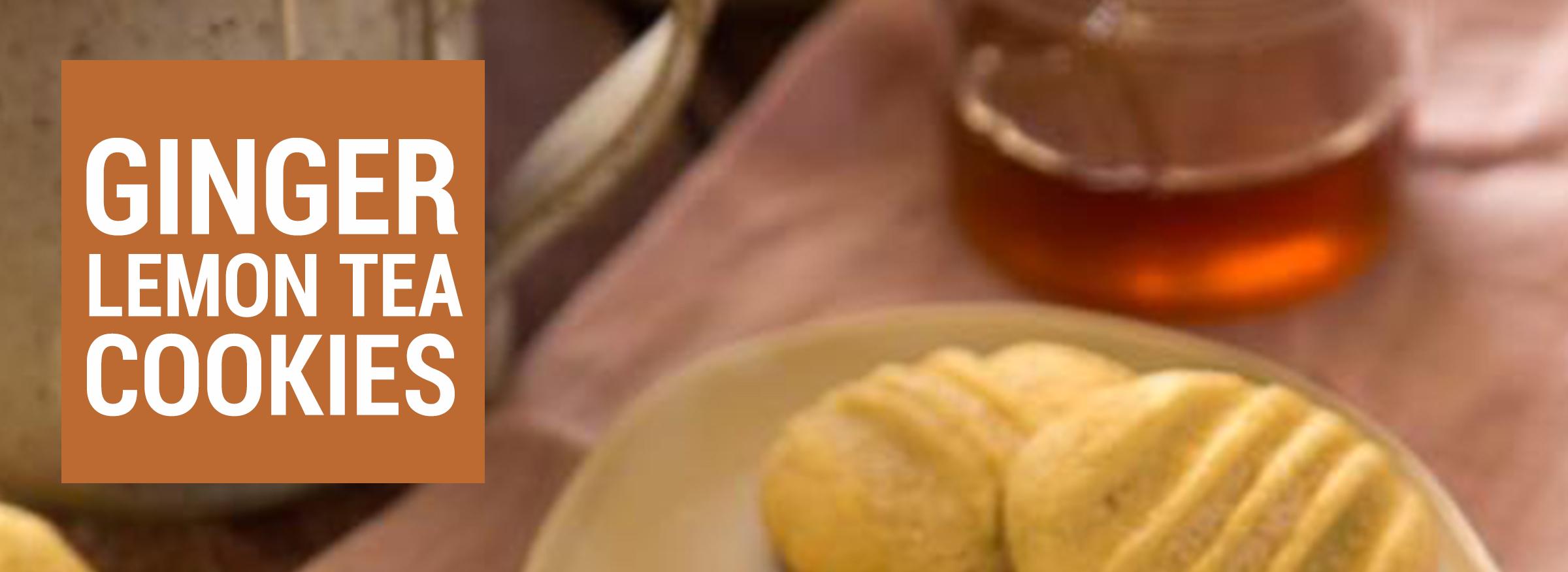 Ginger Lemon Tea Cookies