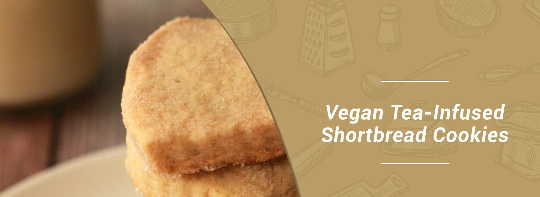 Vegan Tea-Infused Shortbread Cookies